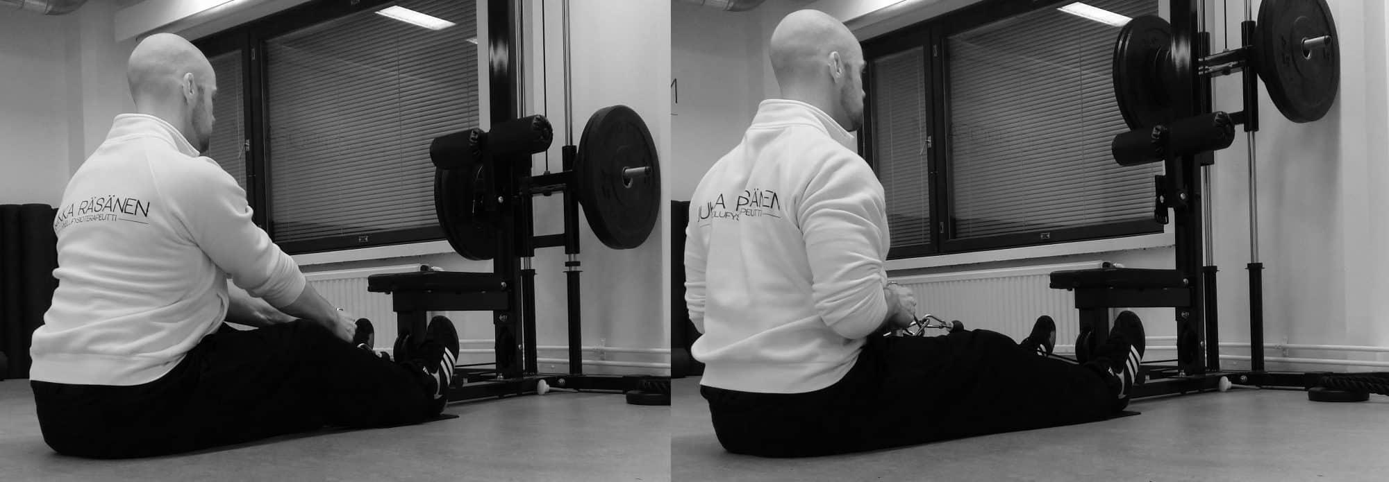 Yläselkäalueen lihasrakenteet ja harjoitteet