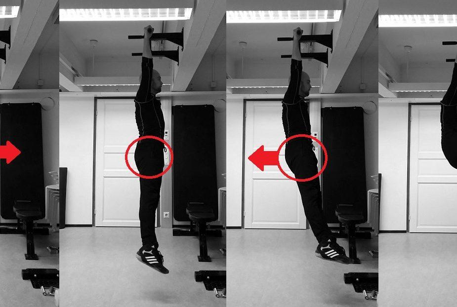 Alavartalon sivutaivutus ja lantion eteen-taakse asento